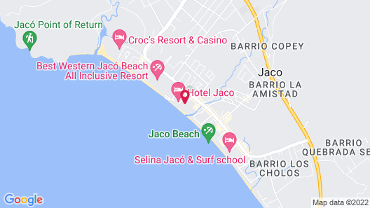 Best in Jaco Beach Front Luxury Condos Map