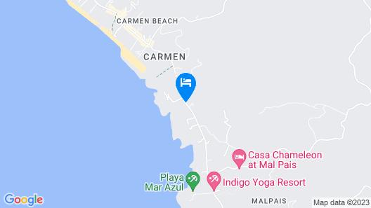 Blue Jay Lodge Costa Rica Map