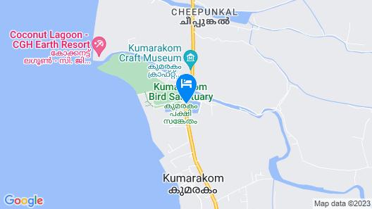 Taj Kumarakom Resort & Spa, Kerala Map