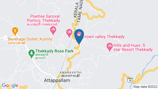 Crown Valley Thekkady Map