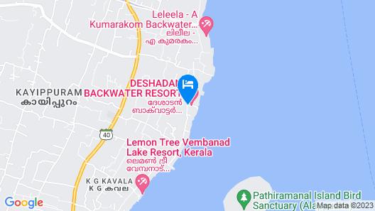 Deshadan Backwater Resort Map
