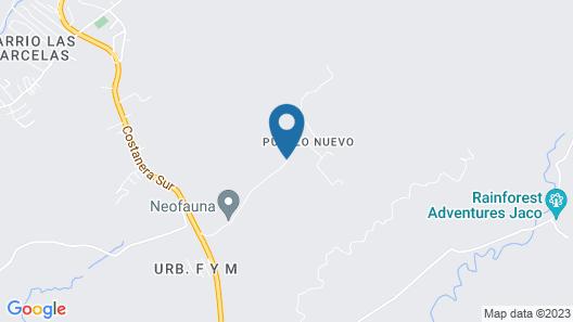 Pumilio Mountain & Ocean Hotel Map