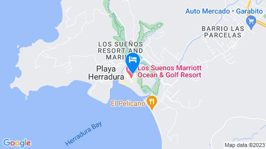 Los Suenos Marriott Ocean & Golf Resort Map