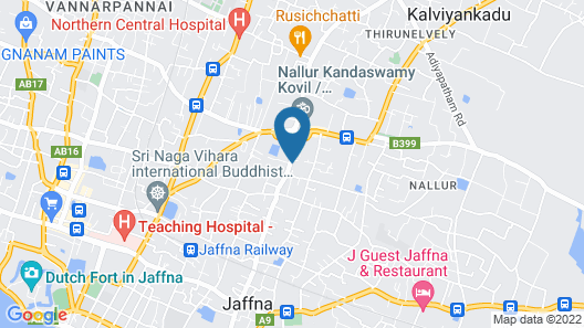 Jaffna Heritage Villa Map
