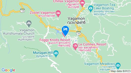 Foggy Knolls Resort Map