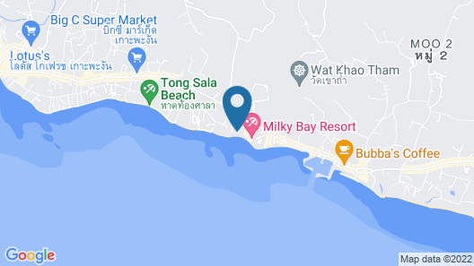 Milky Bay Resort Map
