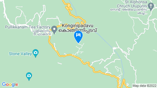 Vagamon Hills Resort Map