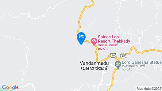 Spices Lap Thekkady Map