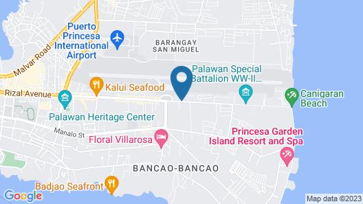 OYO 599 Palawan Village Hotel Map