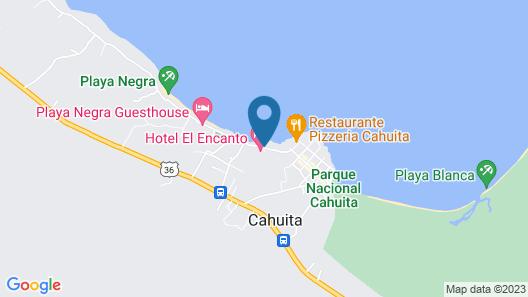 Cabinas Caribe Luna Map