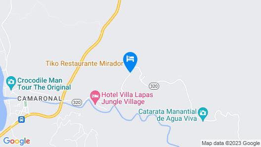 Carara Ocean View Hotel Costa Rica Map