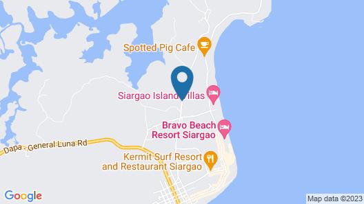 The Hillside Resort Siargao Map