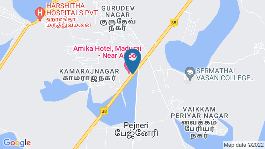 Amika Hotel - Madurai Map