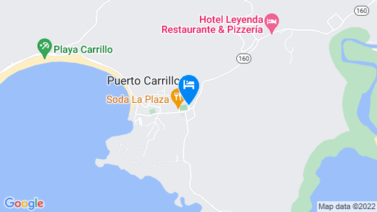Hotel Palmeras Carrillo Beach Map
