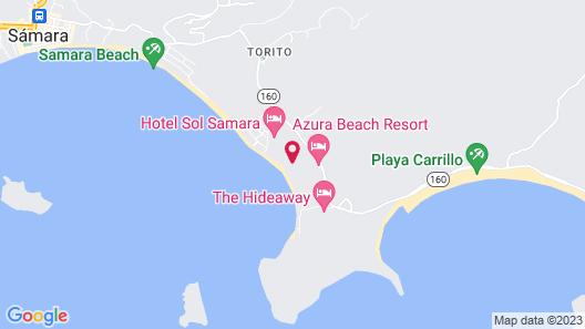 Villas Playa Samara Beach Front Resort  Map