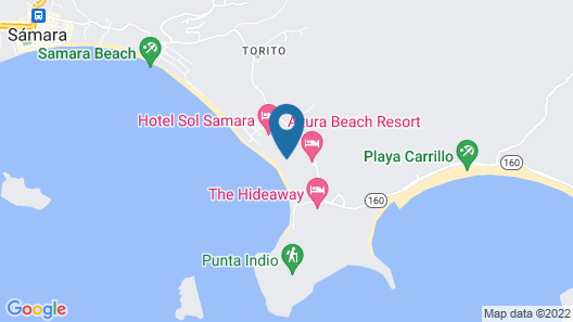 Villas Playa Samara Beach Front Resort  Map