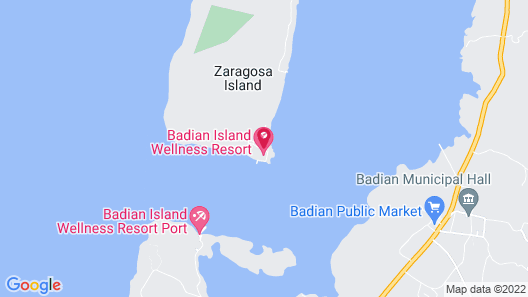 Badian Island Wellness Resort Map