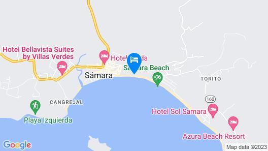 Bahia Beachfront Hotel Restaurant Map