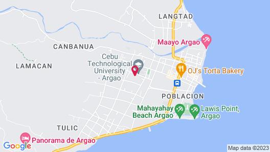 Maayo Stay Argao Map