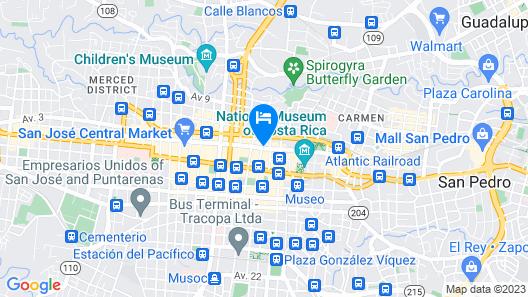 Morazán Hotel & Casino Map