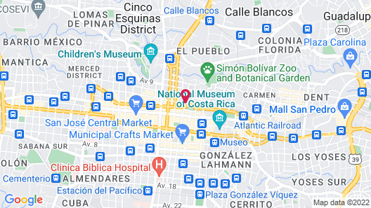 Holiday Inn San Jose-Aurola Map