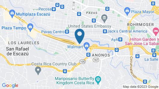 Wyndham Garden San Jose Escazu Map