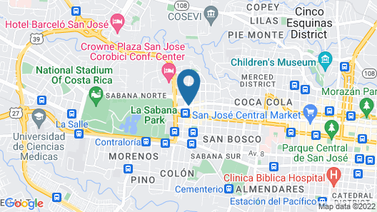 TRYP by Wyndham San Jose Sabana Map