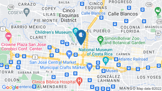 Best Hostel San José Map