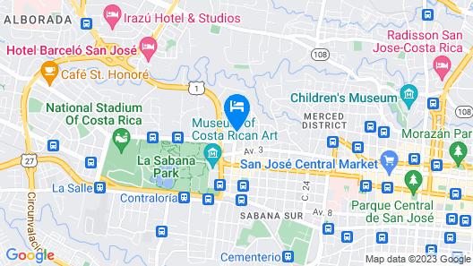 Auténtico Hotel Map