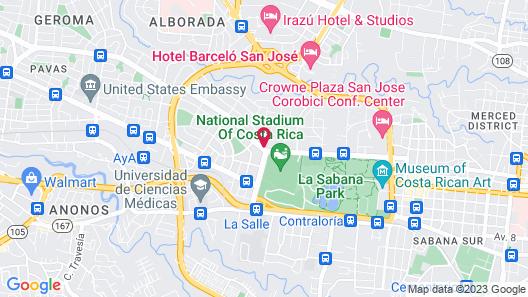 Hilton Garden Inn San Jose La Sabana Map