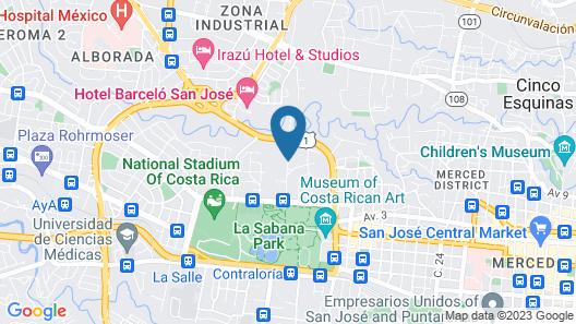 Hotel Suites Cristina Map