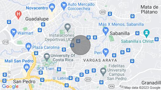 B & B Your Garden Bedroom in Urbanización Carmiol Map