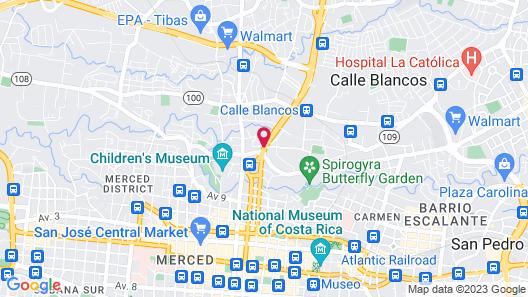 Radisson San Jose-Costa Rica Map