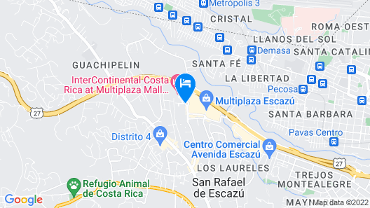 Real InterContinental Costa Rica at Multiplaza Mall Map