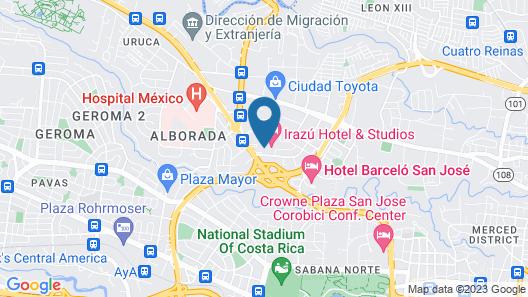 Irazu Hotel & Studios Map