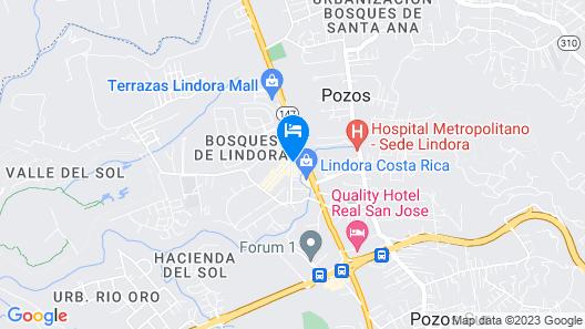 Holiday Inn Express San Jose Forum Map