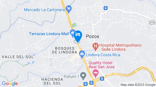 Aloft San Jose Hotel, Costa Rica Map