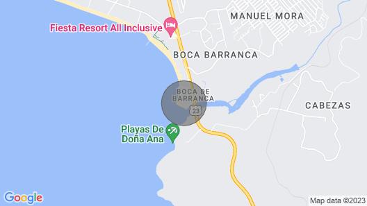 Surf Villa on the Point at Boca Barranca Map