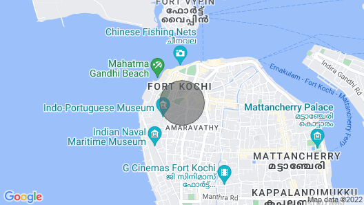 Spacious Inn Fort Kochi Homestay Map