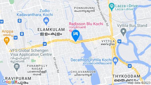 Radisson Blu Kochi Map