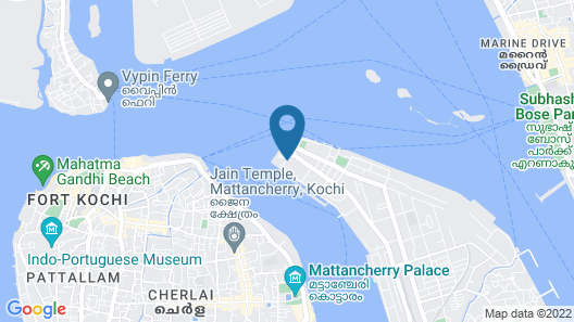 Taj Malabar Resort & Spa, Cochin Map