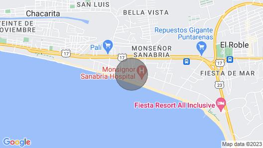 Costa Rican Beach House Rental in Puntarenas Map