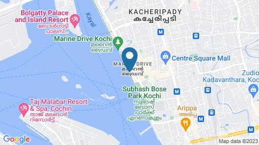 The Gateway Hotel Marine Drive Ernakulam Map