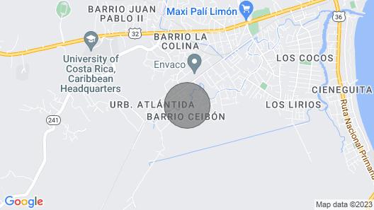 Casa Tres Monos- Stunning Garden/beach Wildlife Viewing Map