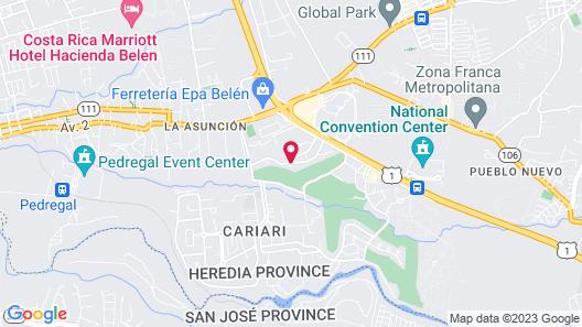 Terrazas de Golf Boutique Hotel Map