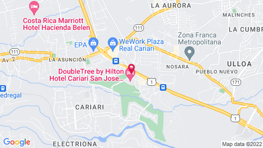DoubleTree by Hilton Cariari - San Jose Costa Rica Map