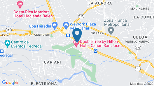 DoubleTree by Hilton Cariari - San Jose Costa Rica Map