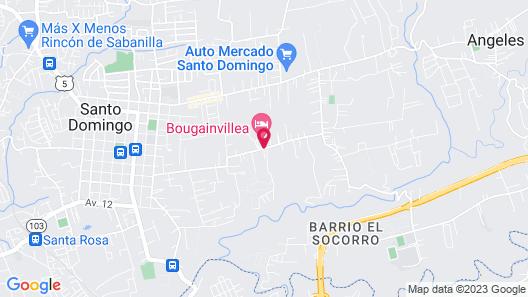 Hotel Bougainvillea San José Map