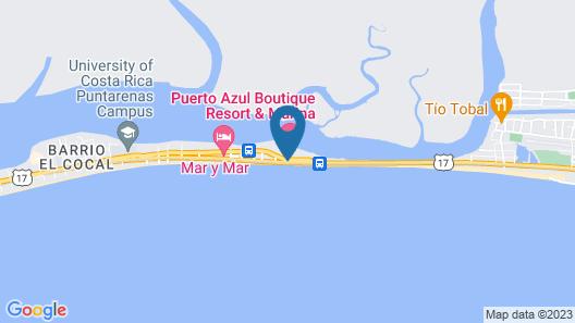 Puerto Azul Boutique Resort & Marina Map
