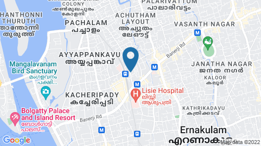 Sidra Pristine Hotel & Portico Halls Map